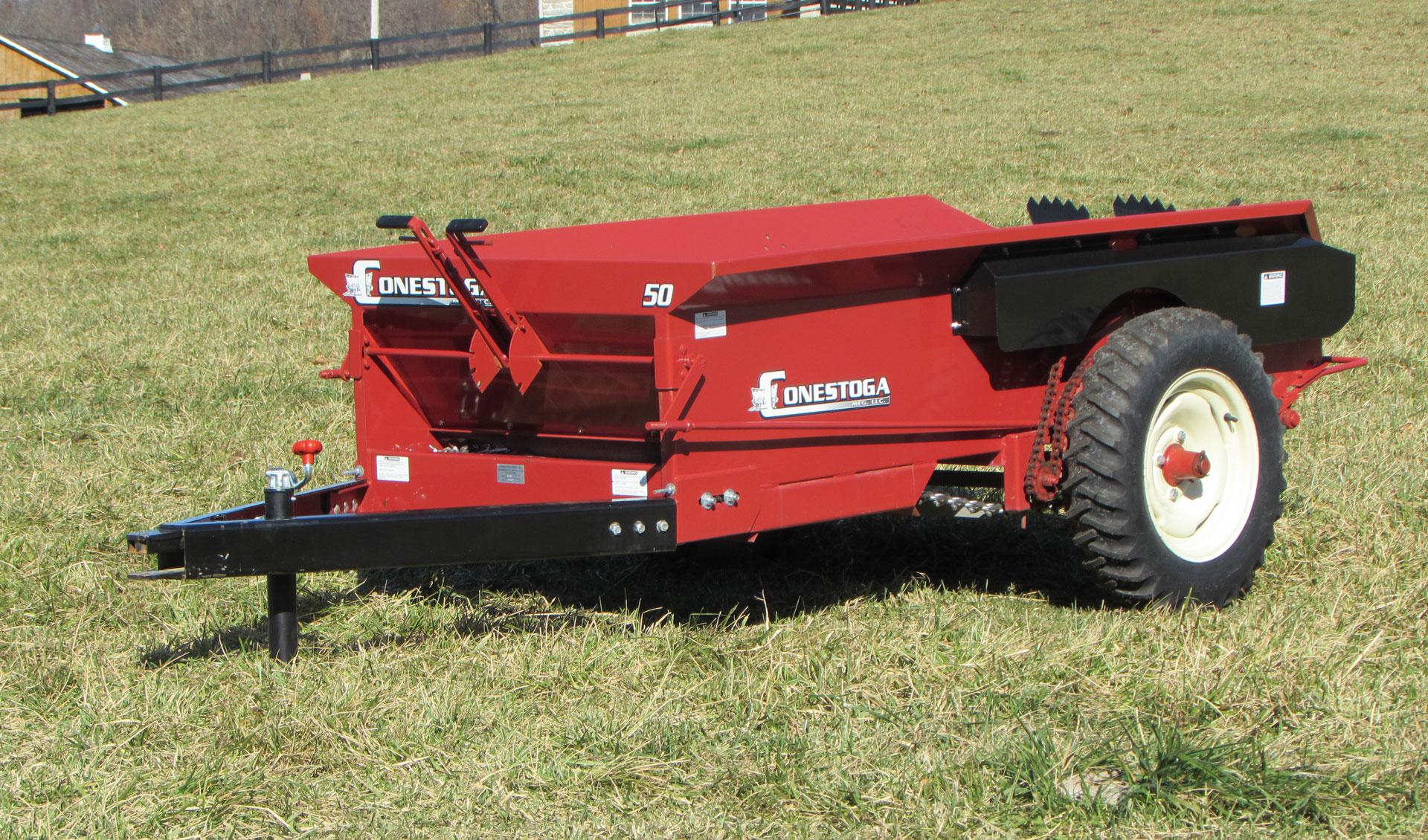 ground driven manure spreader compact manure spreader conestoga manufacturing