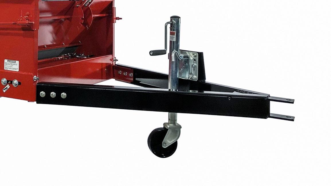 atv manure spreader dolly wheel jack optional feature