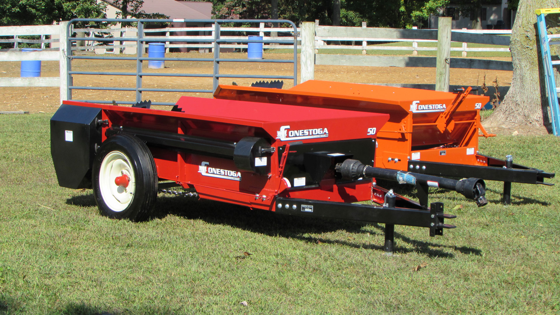 pto manure spreader 50 cubic feet of hauling