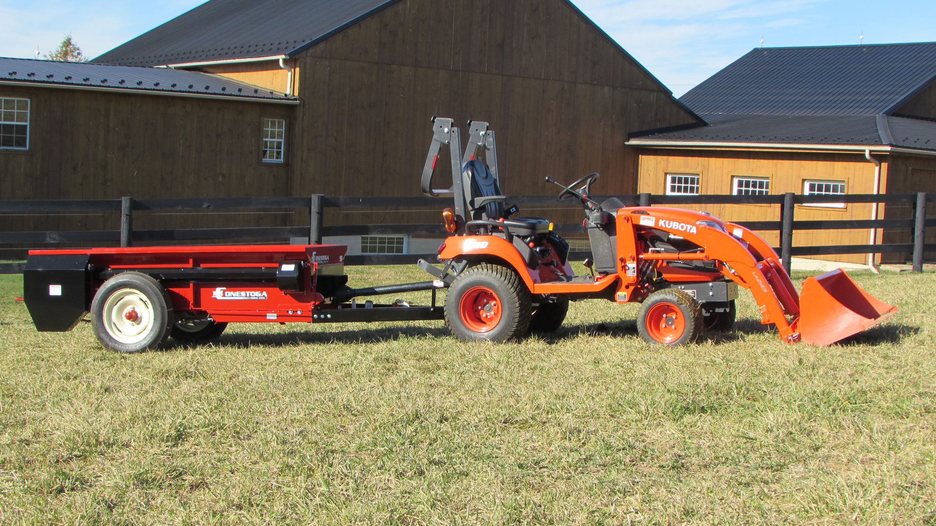 pto manure spreader kubota tractor