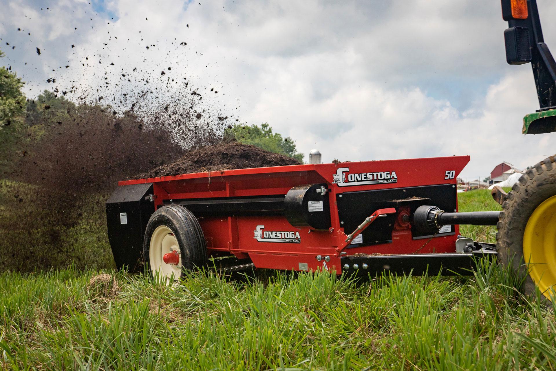 PTO manure spreader from conestoga manure spreaders in Lancaster, Pennsylvania.